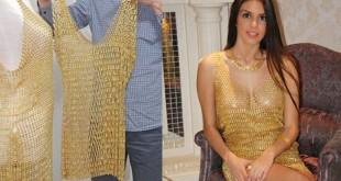 robe en or
