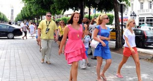 European tourists strolling on July 19,