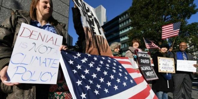 احتجاجات-اتفاقية-المناخ-واشنطن