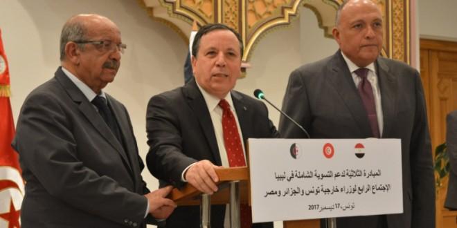 وزراء خارجية تونس-الجزائر-مصر2