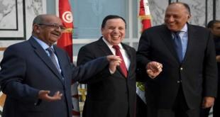 وزراء خارجية تونس والجزائر ومصر